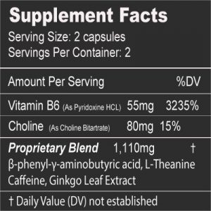 Limitless mood enhancer supplement facts 4-count